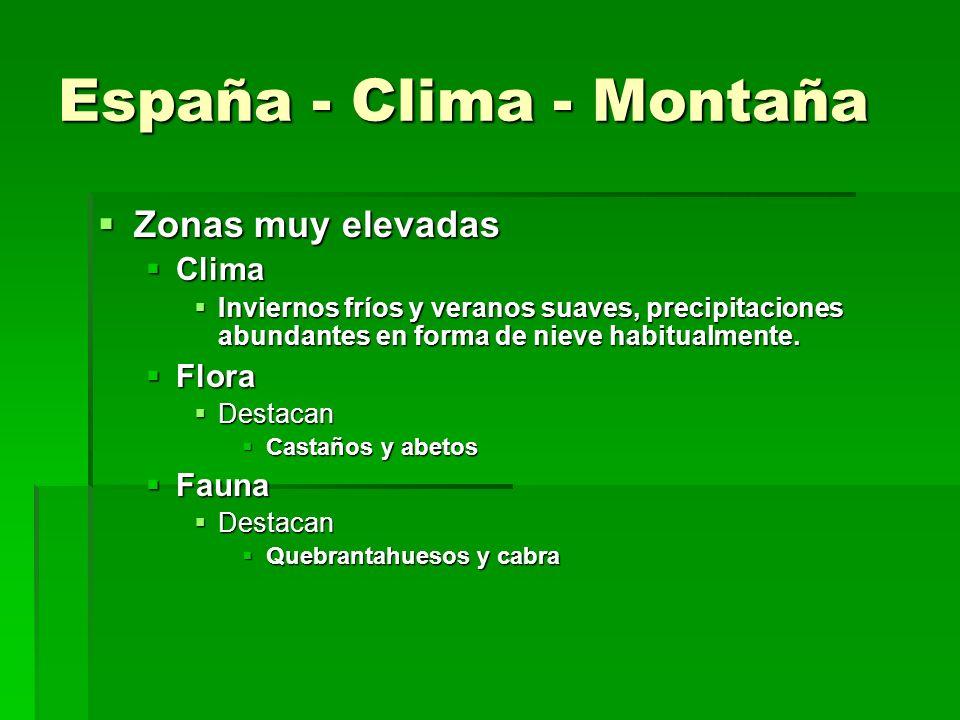 España - Clima - Montaña