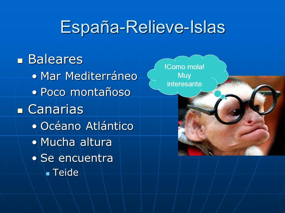 España-Relieve-Islas