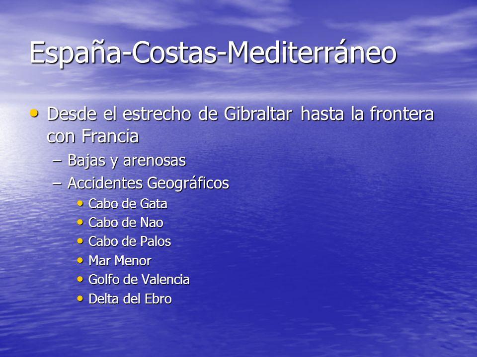 España-Costas-Mediterráneo