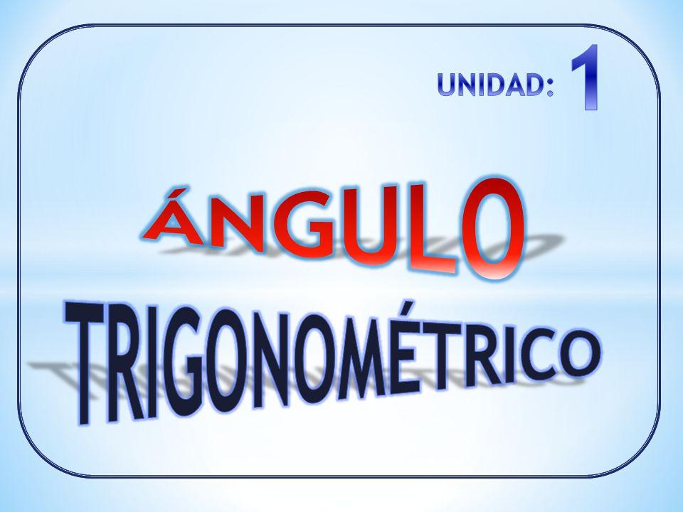 1 UNIDAD: ÁNGULO TRIGONOMÉTRICO