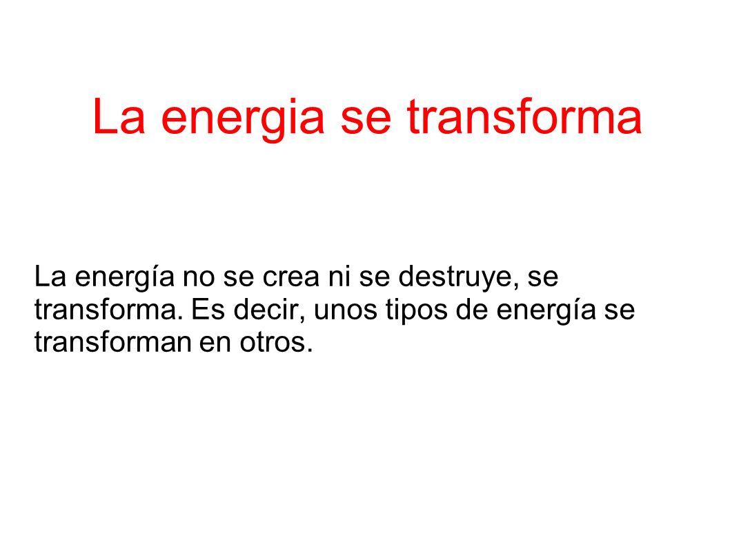 La energia se transforma