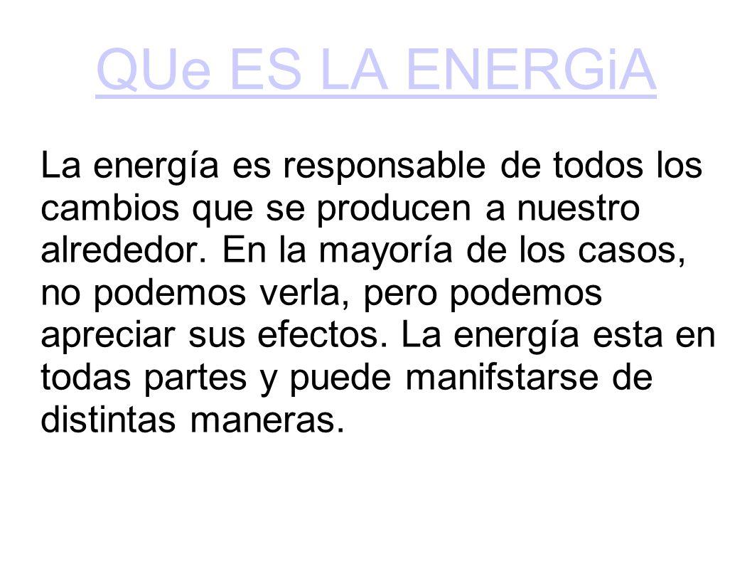 QUe ES LA ENERGiA