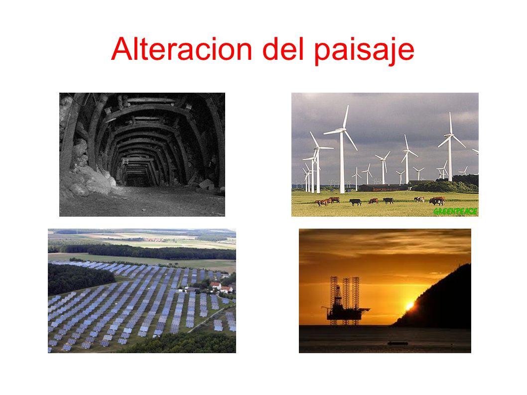 Alteracion del paisaje