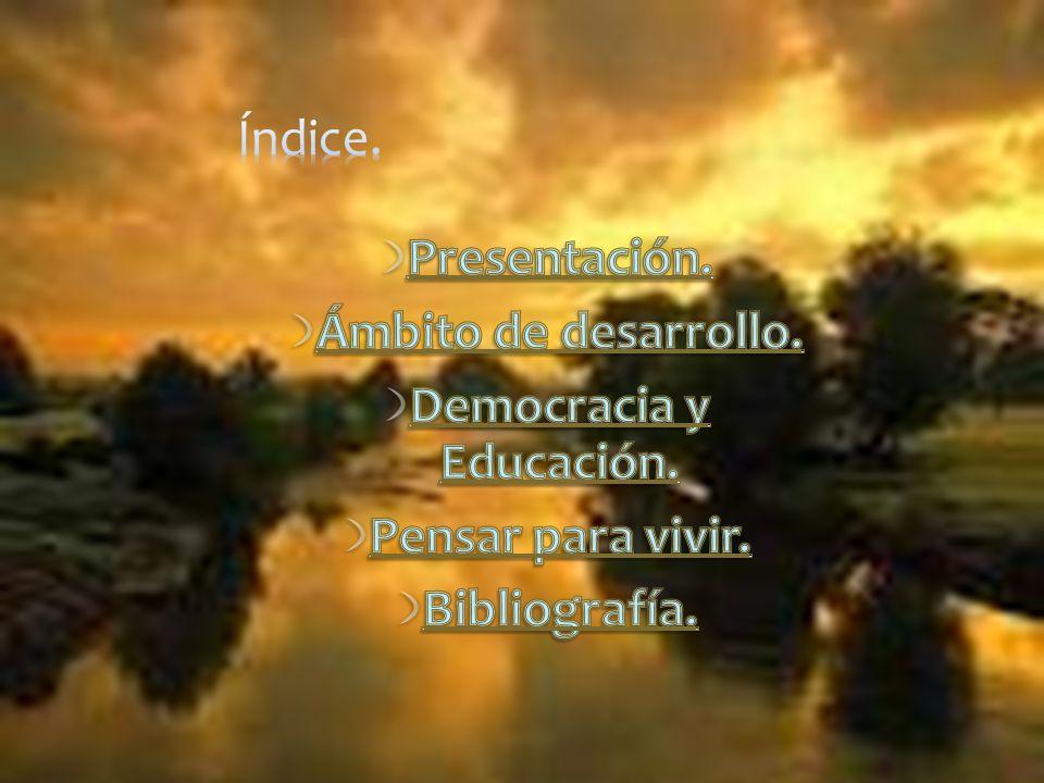 Democracia y Educación.