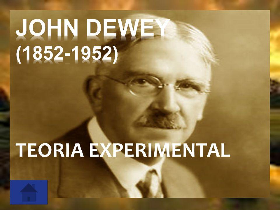 JOHN DEWEY (1852-1952) TEORIA EXPERIMENTAL