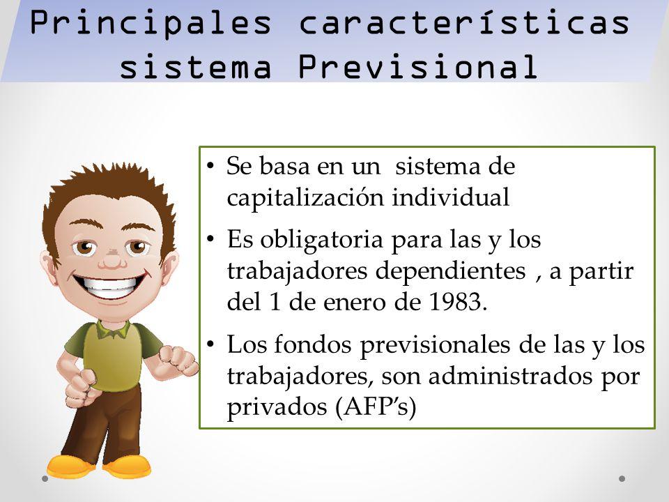 Principales características sistema Previsional