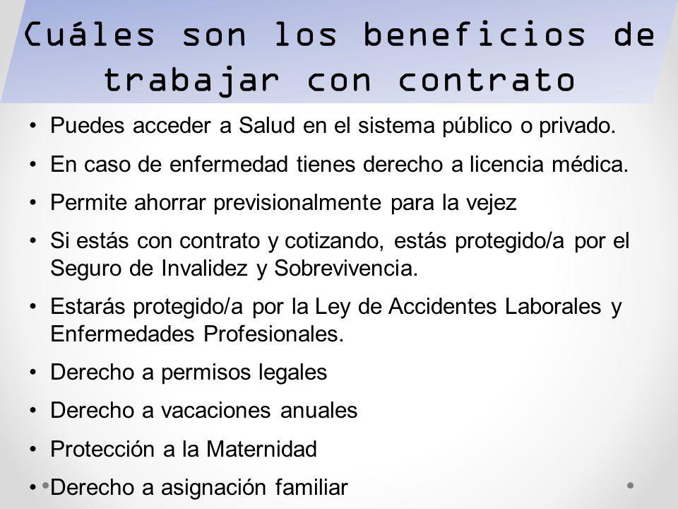 Cuáles son los beneficios de trabajar con contrato