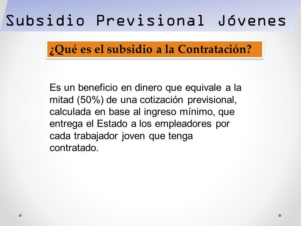 Subsidio Previsional Jóvenes