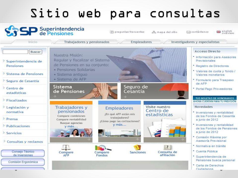 Sitio web para consultas