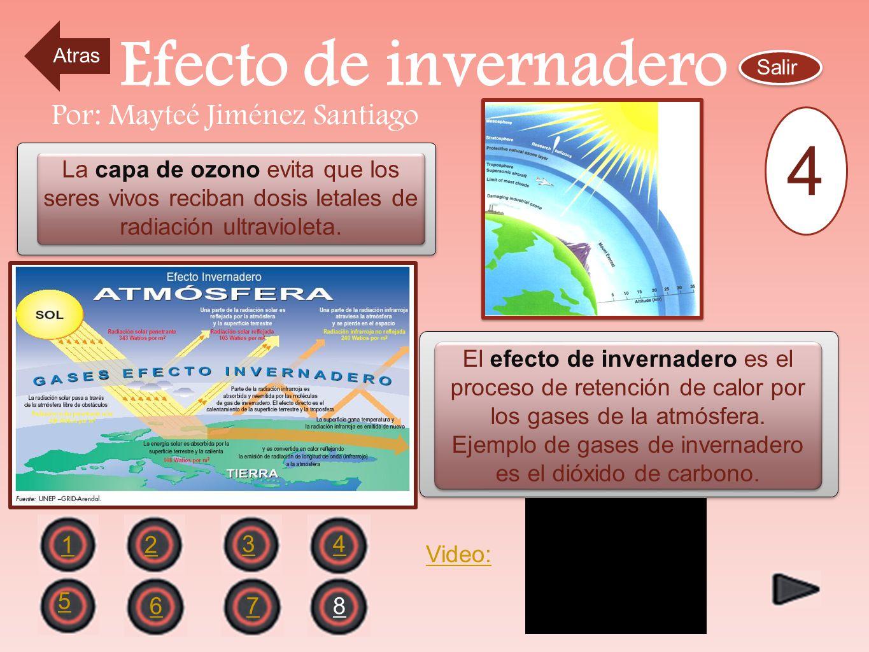 Efecto de invernadero 4 Por: Mayteé Jiménez Santiago
