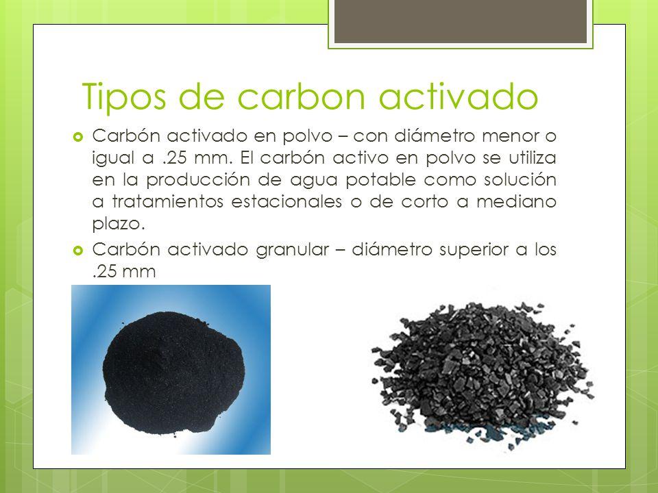 Tipos de carbon activado