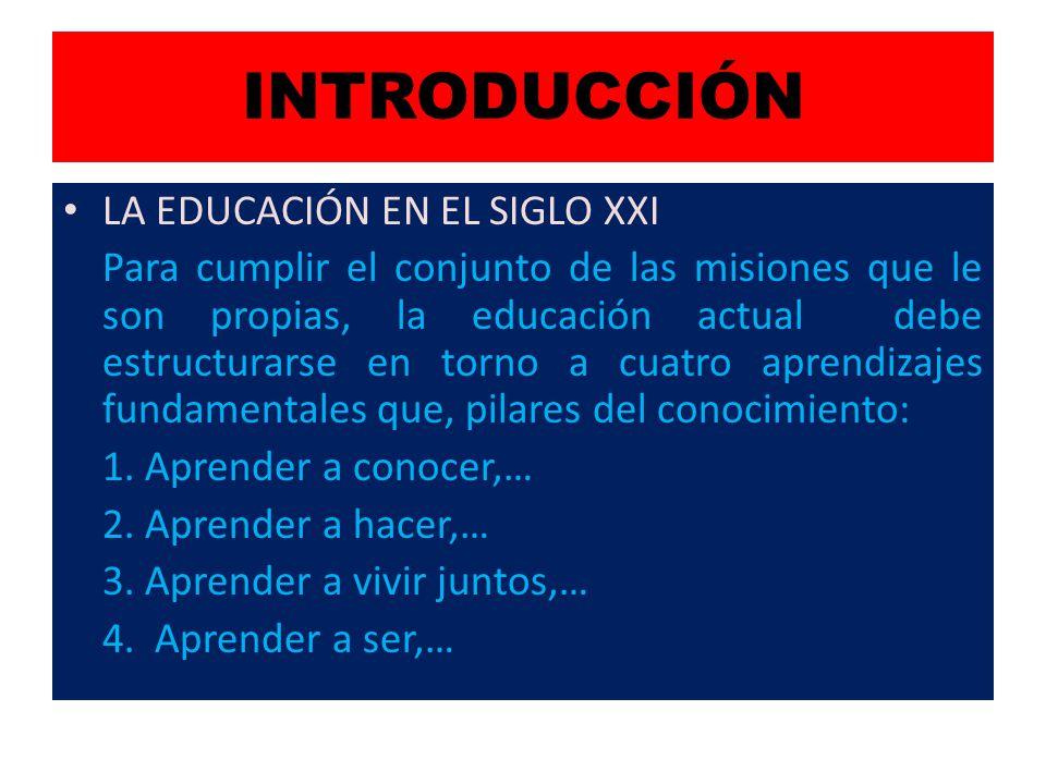 INTRODUCCIÓN LA EDUCACIÓN EN EL SIGLO XXI