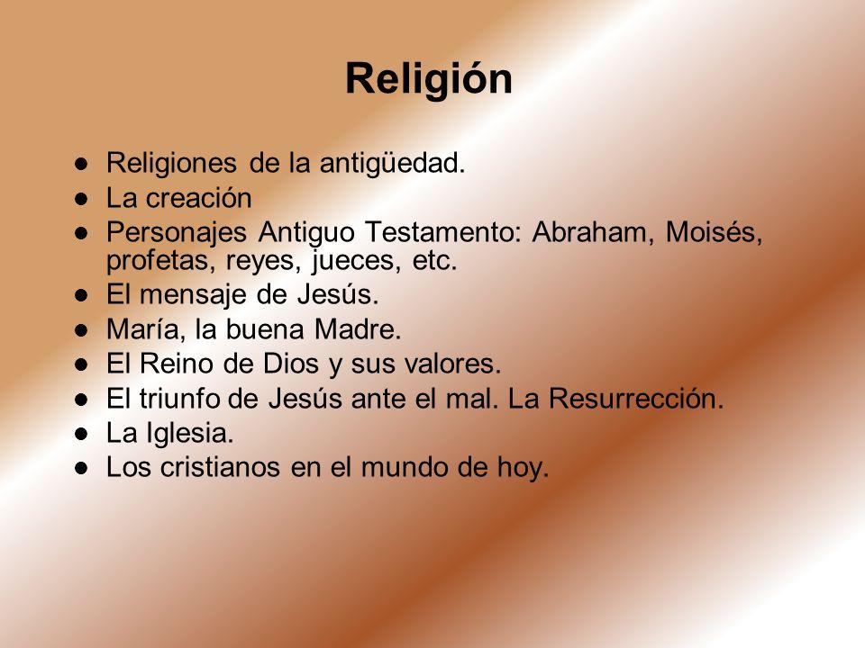 Religión Religiones de la antigüedad. La creación