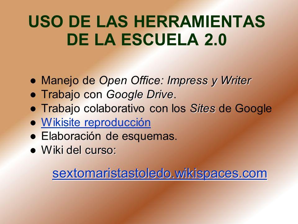 USO DE LAS HERRAMIENTAS DE LA ESCUELA 2.0