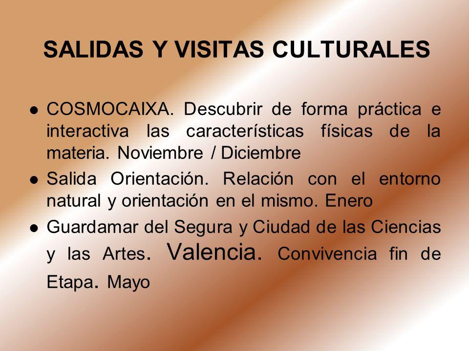 SALIDAS Y VISITAS CULTURALES
