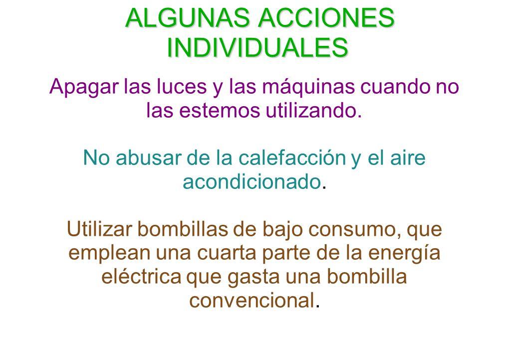 ALGUNAS ACCIONES INDIVIDUALES
