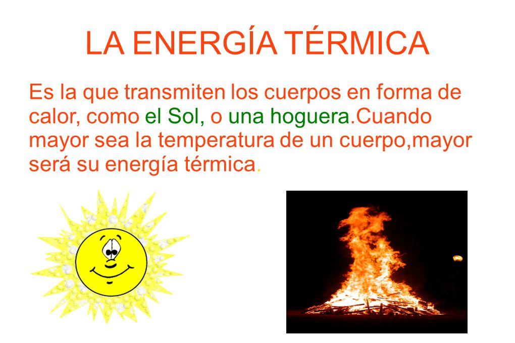 LA ENERGÍA TÉRMICA