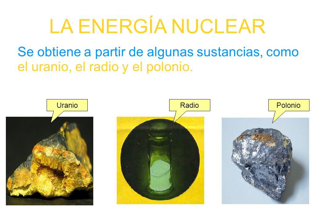 Se obtiene a partir de algunas sustancias, como el uranio, el radio y el polonio.