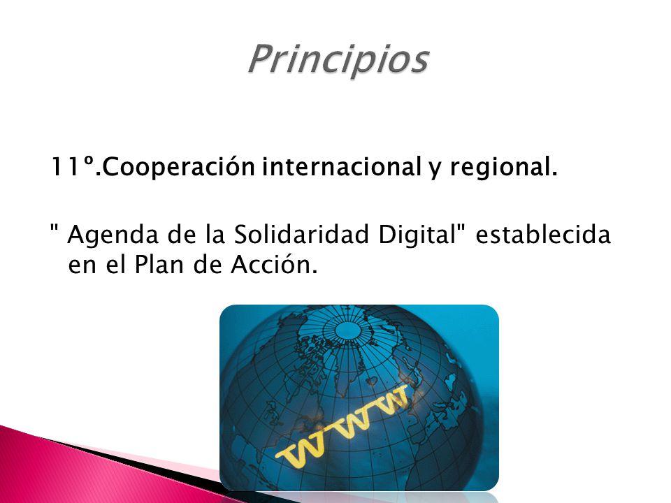 Principios 11º.Cooperación internacional y regional.