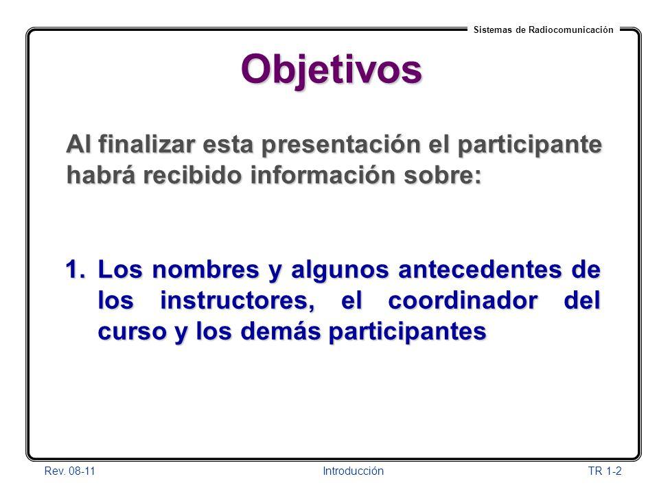 01/04/2017 Objetivos. Al finalizar esta presentación el participante habrá recibido información sobre: