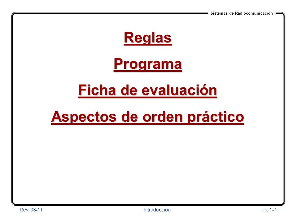 Aspectos de orden práctico