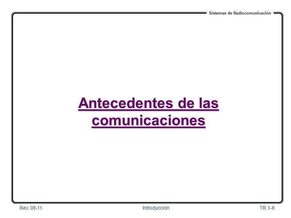 Antecedentes de las comunicaciones