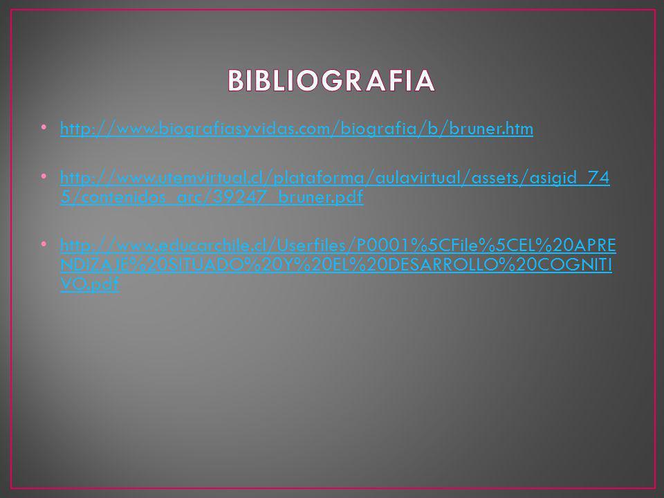 BIBLIOGRAFIA http://www.biografiasyvidas.com/biografia/b/bruner.htm