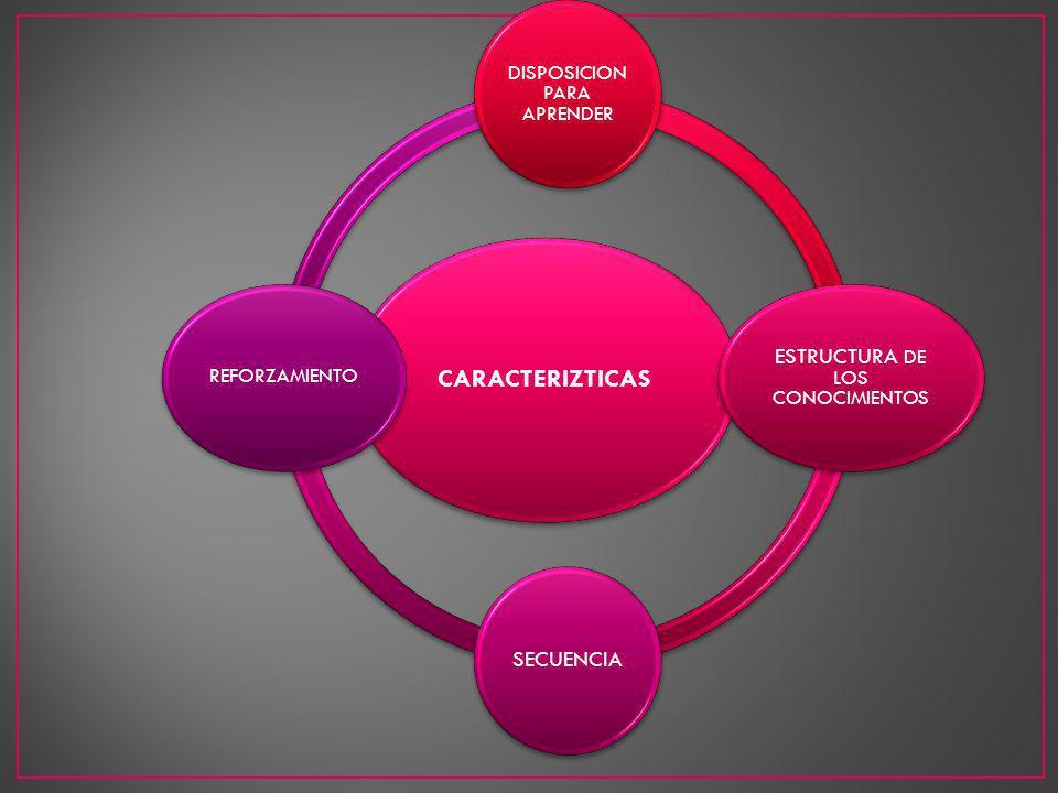 CARACTERIZTICAS ESTRUCTURA DE LOS CONOCIMIENTOS SECUENCIA