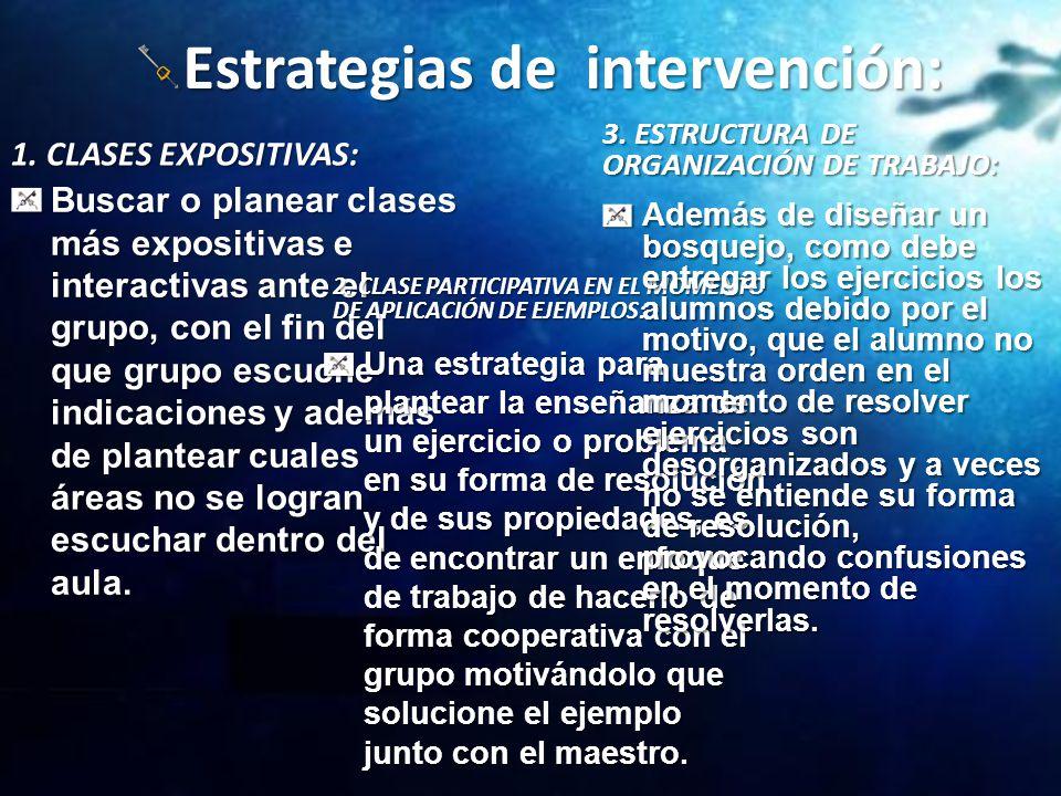 Estrategias de intervención: