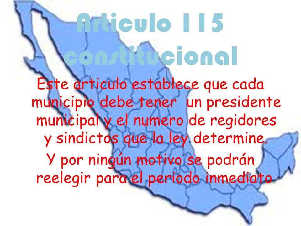 Articulo 115 constitucional