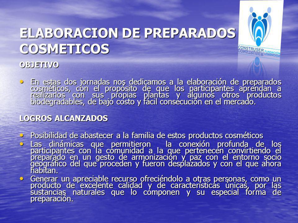 ELABORACION DE PREPARADOS COSMETICOS