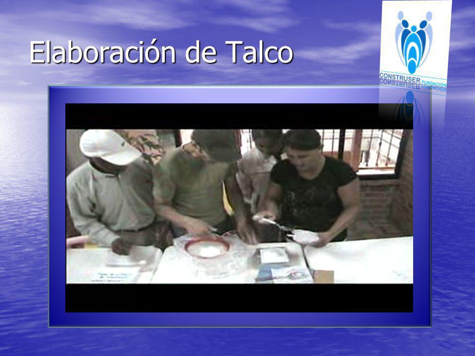 Elaboración de Talco