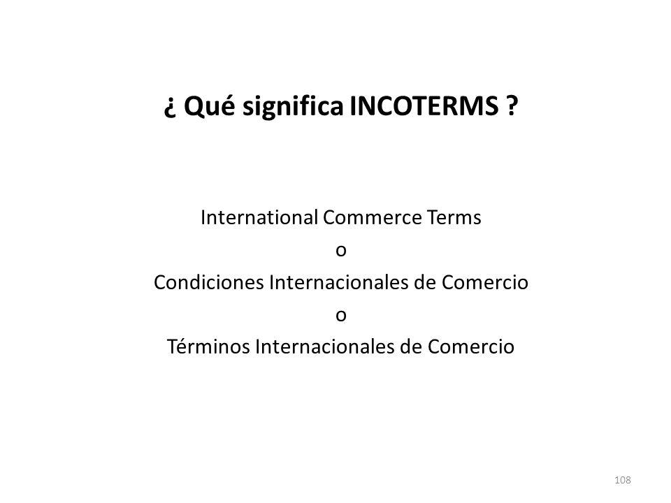 ¿ Qué significa INCOTERMS