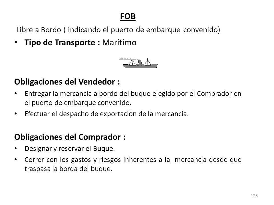 Libre a Bordo ( indicando el puerto de embarque convenido)