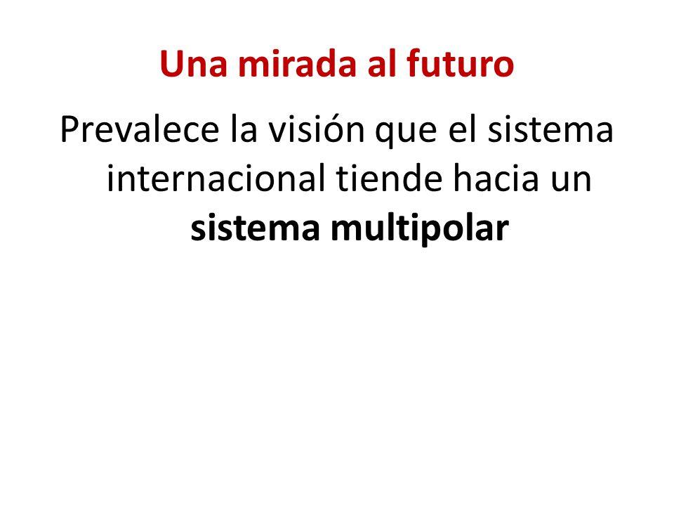 Prevalece la visión que el sistema internacional tiende hacia un sistema multipolar
