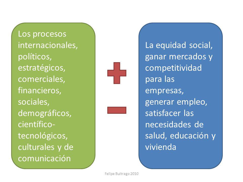Los procesos internacionales, políticos, estratégicos, comerciales, financieros, sociales, demográficos, científico-tecnológicos, culturales y de comunicación