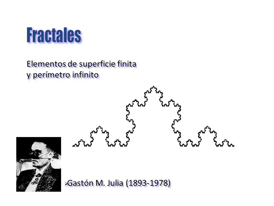 Fractales Elementos de superficie finita y perímetro infinito