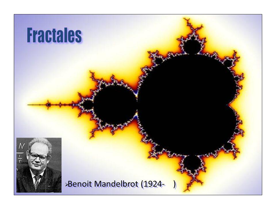 Fractales Benoit Mandelbrot (1924- )