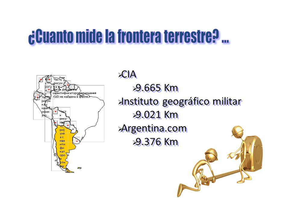 ¿Cuanto mide la frontera terrestre ...