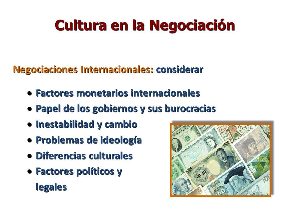 Cultura en la Negociación