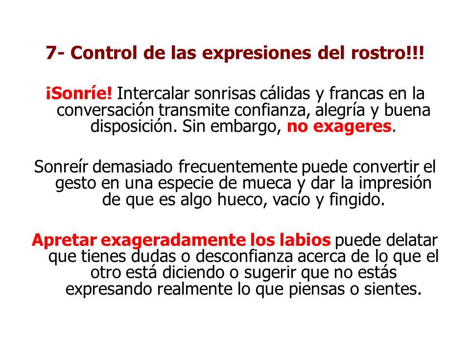 7- Control de las expresiones del rostro!!!