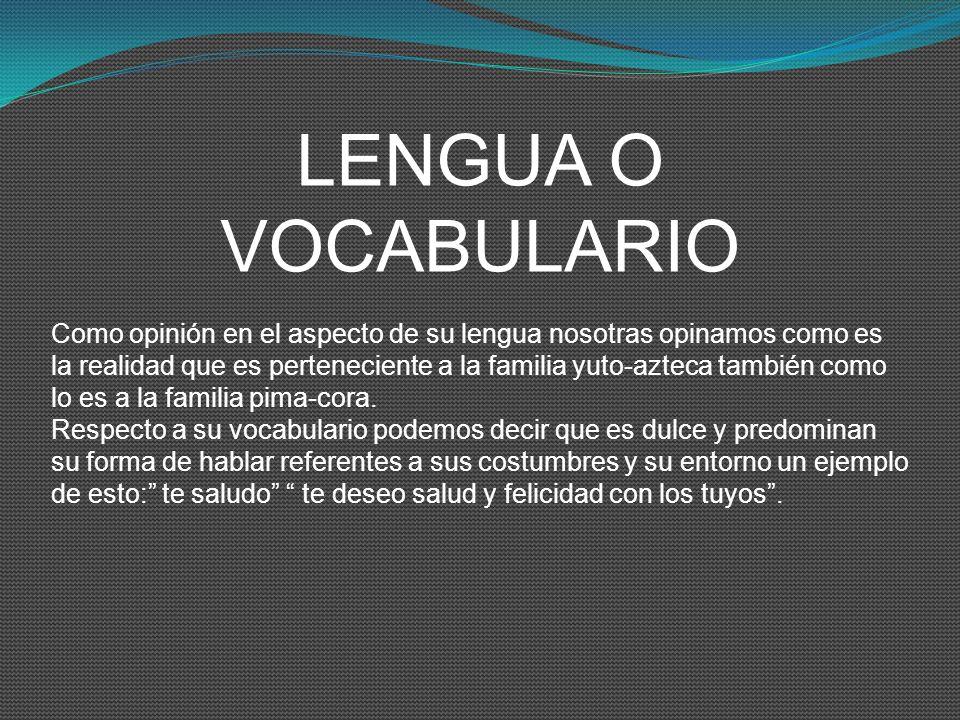 LENGUA O VOCABULARIO