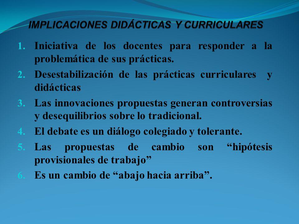 IMPLICACIONES DIDÁCTICAS Y CURRICULARES