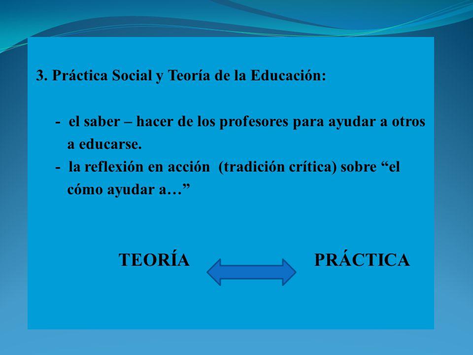 3. Práctica Social y Teoría de la Educación: