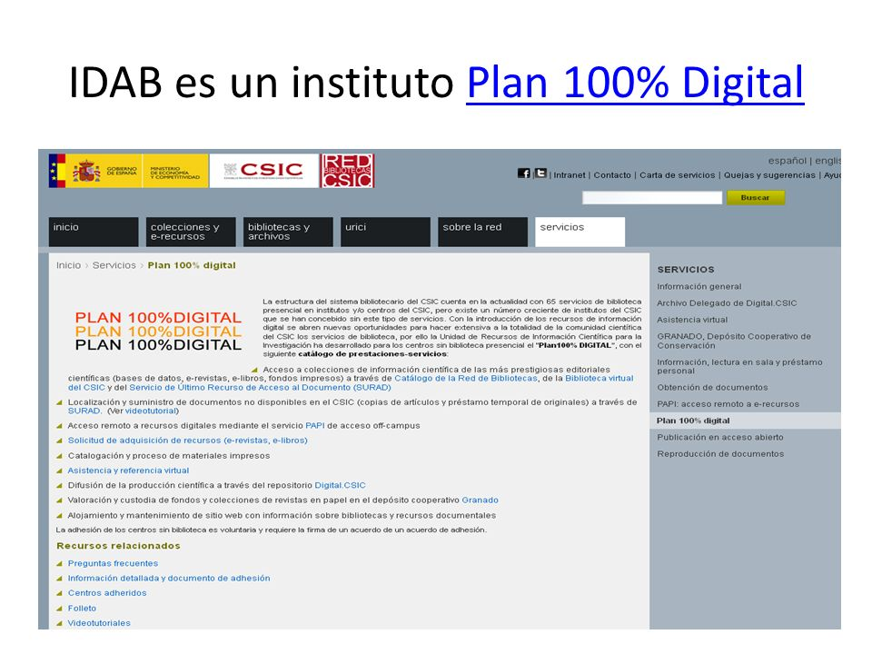 IDAB es un instituto Plan 100% Digital
