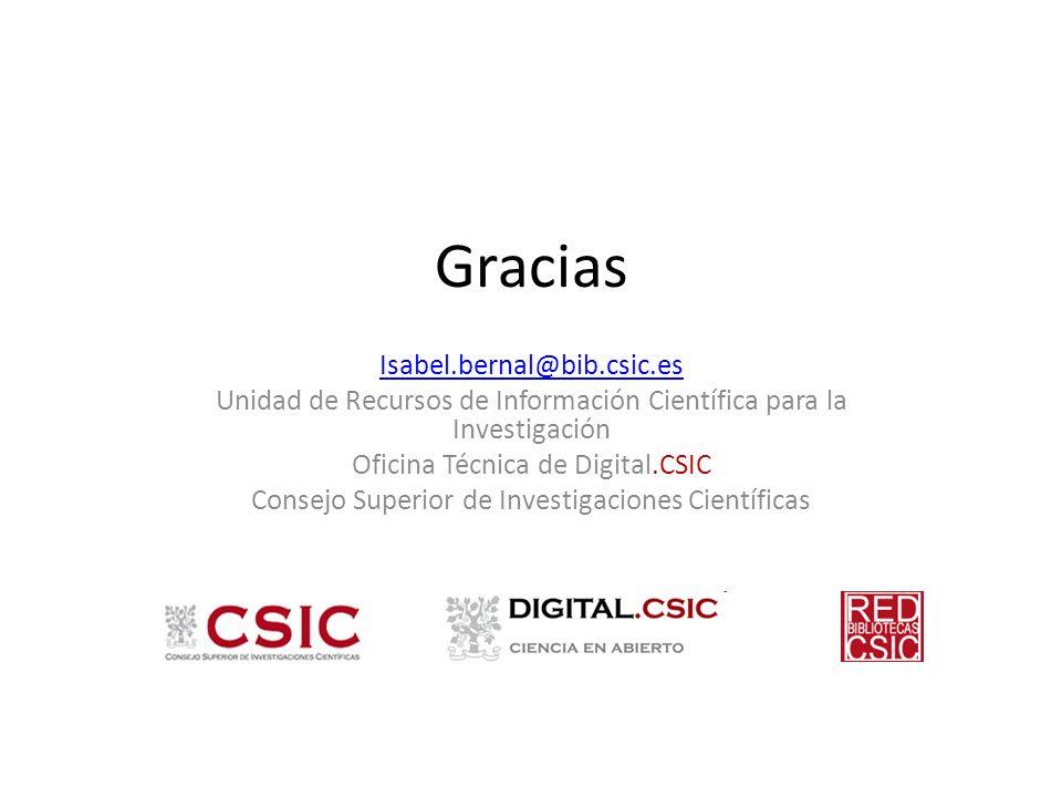 Gracias Isabel.bernal@bib.csic.es