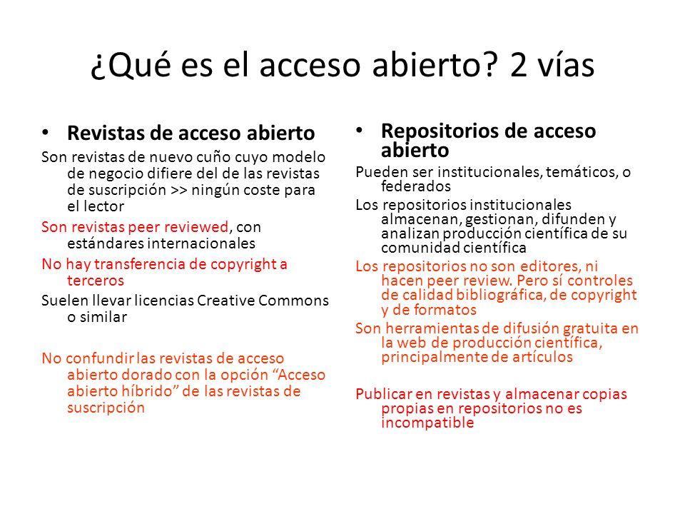 ¿Qué es el acceso abierto 2 vías