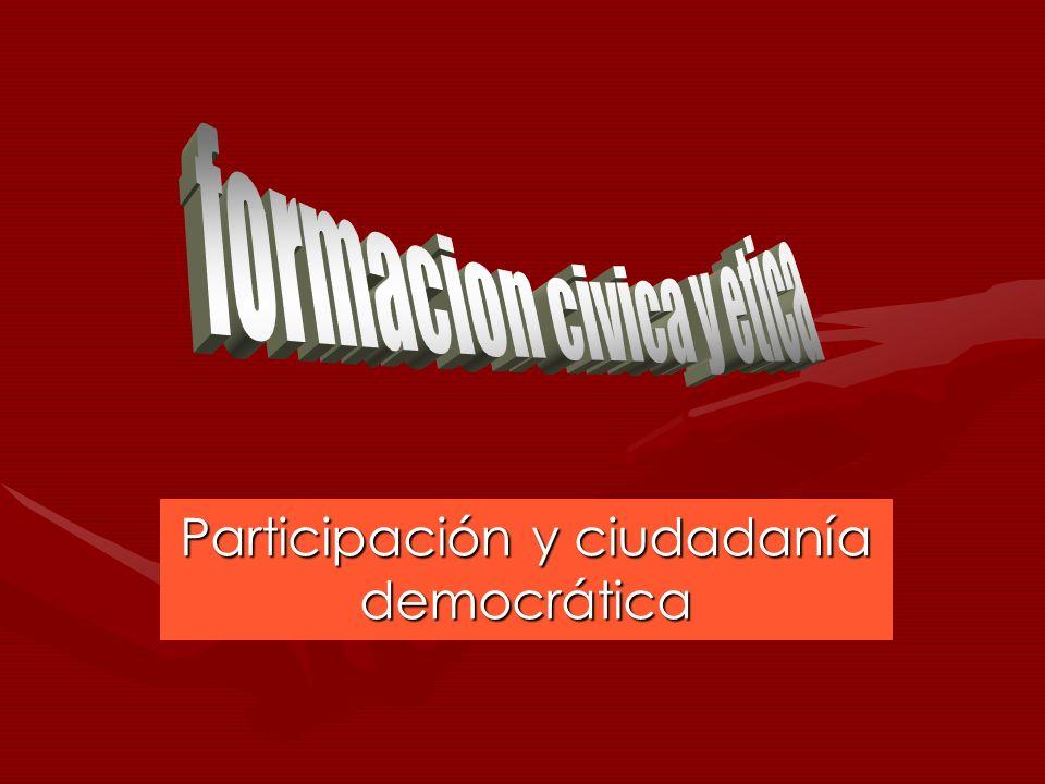 Participación y ciudadanía democrática