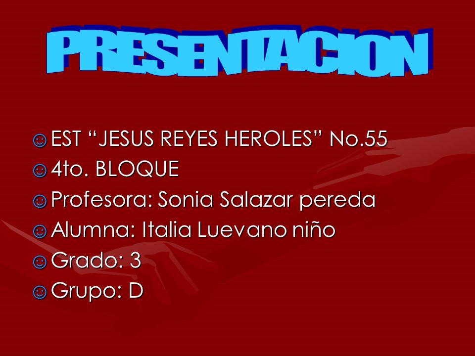 PRESENTACION EST JESUS REYES HEROLES No.55 4to. BLOQUE