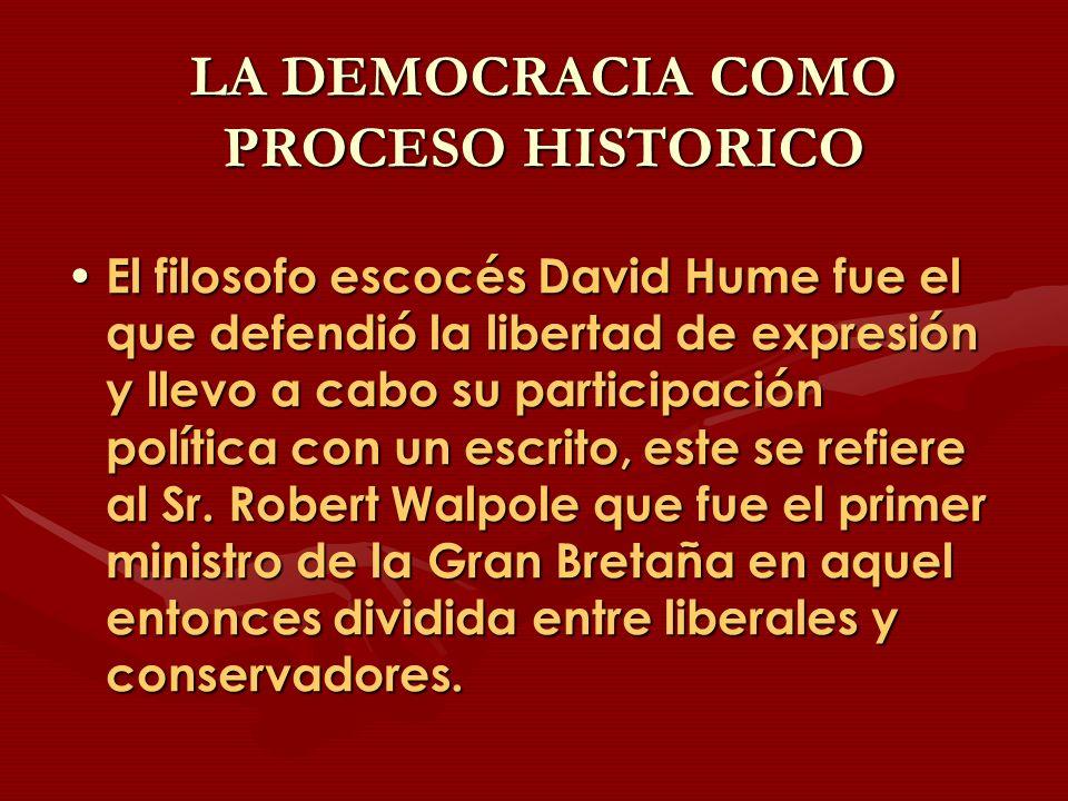 LA DEMOCRACIA COMO PROCESO HISTORICO